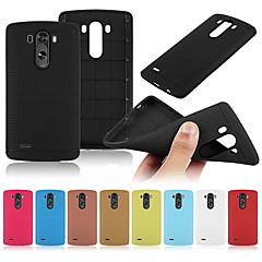 Mert LG tok Ütésálló Case Hátlap Case Egyszínű Puha Szilikon LG LG G3