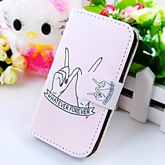 Around Her Finger Wallet Stand PU Leather Case For Samsung Galaxy S2 SII I9100