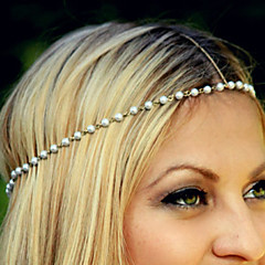 European Style Simple Aesthetic Fashion Wild Pearl Beaded Headband