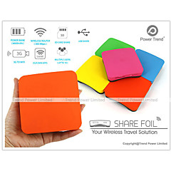 Power Trend Share Foil WiFi Wireless Media Drive Storage (SD SDHC SDXC USB) Router and 6600mAh Power Bank