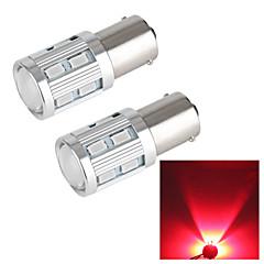 Merdia 1157 18W 250LM Cree 12x5630SMD LED and 1 Condenser Lens Red Light Brake Light / Reversing light(2 PCS/12V)