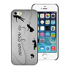 nunca crescem hard case de alumínio design para iPhone 5 / 5s
