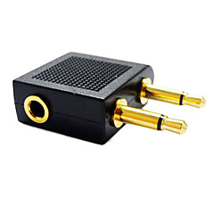 3,5 mm audio splitter 1 hun til 2 mandlige 3,5 mm jack splitter konverter adapter