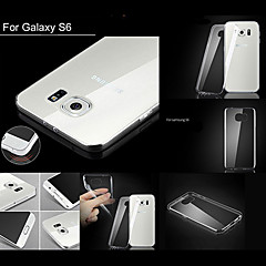 BIG D 0.6mm Transparent Soft TPU Back Cover for Samsung Galaxy S6(Assorted Colors)