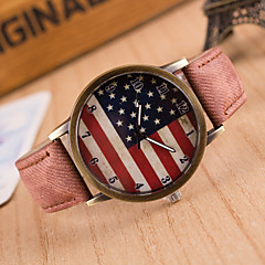 Women European Style Retro Fashion Harajuku Graffiti Simple American Flag Watches Cool Watches Unique Watches