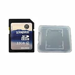 킹스톤 디지털 32기가바이트 클래스 4 SD 메모리 카드와 메모리 카드 상자