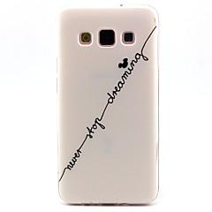 Voor Samsung Galaxy hoesje Patroon hoesje Achterkantje hoesje Woord / tekst TPU Samsung A5