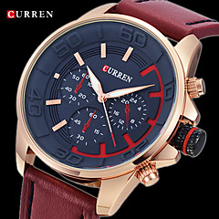 CURREN® Men's Army Design Military Watch Japanese Quartz Leather Strap