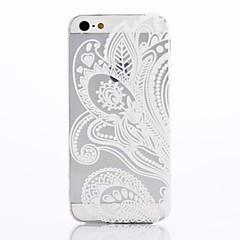 matériau TPU de motif d'impression blanc doux cas de téléphone pour iphone 5 / 5s