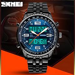 skmei® mænds militære design sport watch sort stål analog-digital / kalender / kronograf / alarm