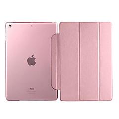 Kotelot jalustalla - Omena iPad 2/iPad 4/iPad 3 - Yhtenäinen väri - PU-nahka - Valkoinen/Vihreä/Sininen/Vaaleanpunainen/Kulta