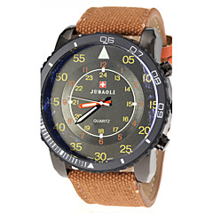 JUBAOLI® Men's Military Style Fabric Band Quartz Wrist Watch Cool Watch Unique Watch