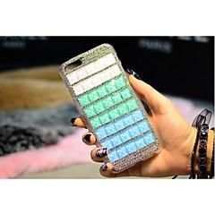 luxo belas strass diamante quadrados tampa da caixa transparente para o telefone da maçã para o iphone 5 5s