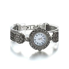 Damen Modeuhr Armband-Uhr Quartz Japanischer Quartz Legierung Band Schwarz Silberschwarz