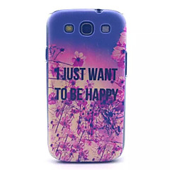 happy patroon pc harde case voor Samsung s3 i9300