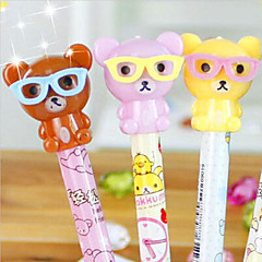 Cute Bear With Glasses Ball-Point Pen (Random Color)