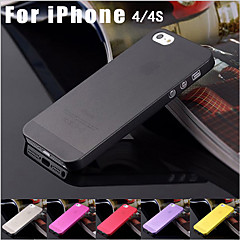 Luxury Ultra Thin Translucent Back Cover for iPhone 4/4S(Assorted Color)