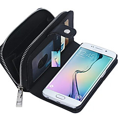 Zipper Wallet Plus Back Cover 2 in 1 Pattern Genuine Leather Wallet Cases with Cards Slots for Samsung Galaxy S6 edge