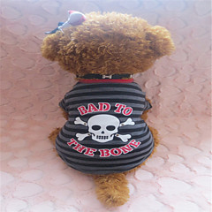 Verano - Gris - Cebra - Algodón - Camiseta - Perros - XS / S / M