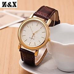 女性のファッションコマースクォーツアナログレザー腕時計(アソートカラー)