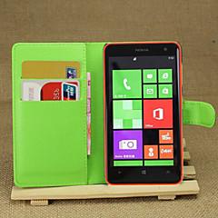 liczi wokół otwartego zamka portfel skórzany telefonu karty odpowiednie do Nokia Lumia 625 (mieszany kolor)