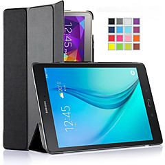 ivso ultra-ohut ja ultrakevyt korkealaatuista PU nahka folio tapauksessa jalustan kansi Galaxy Tab 9.7 tabletti (musta)