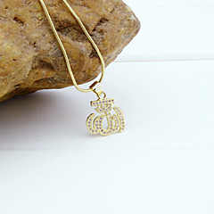 18K Golden Plated Allah Muslim Islamic Zircon Micro-Inclosed Pendant