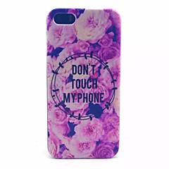 indietro pc coperchio trasparente satinato flowerspattern rosa per iphone 5 / 5s