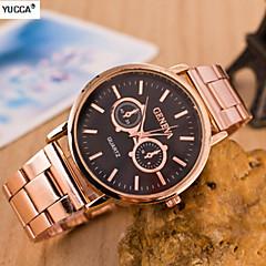 Женские Модные часы сплав Группа Розовое золото бренд-