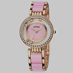 שרף עמיד למים טבעת זהב יהלומי קוורץ בנות מדהימים דיסק אופנה עם גלילה שעון (צבעים שונים)
