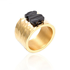 Toonykelly® Stainless Steel Black Bear Ring Gold Statement Ring 1pc