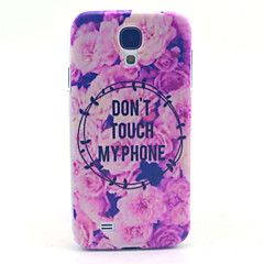 Don't Touch MY Phone Pattern PC Hard Case for Samsung Galaxy S4 I9500 Back Cover