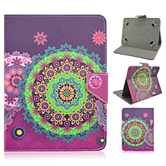 Flower Pattern High Quality PU Leather with Stand Case for 10 Inch Universal Tablet