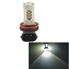 carking ™ h8 / H11 80W 16smd 2800ml 6000K hvidt lys førte tåge lys hoved lampe kørsel pære (DC 12V)