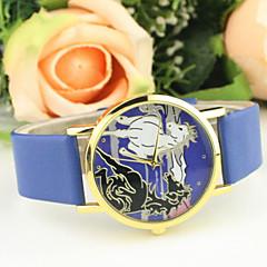 Women's Casual Horse Dial PU Band Quartz Wrist Watch