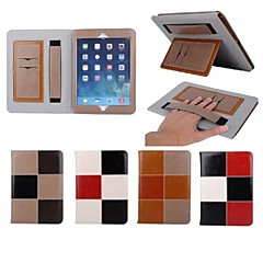 Caso carteira de couro padrão de correspondência de cores de luxo genuína 7,9 polegadas com suporte para iPad mini 1/2/3 (cores sortidas)