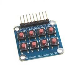 microcontrôleur de 8 touches clavier Module externe 2 * 4 de la matrice d'expansion du clavier