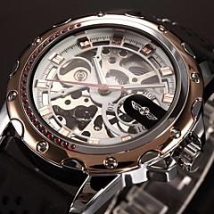 Мужской Наручные часы С автоподзаводом С гравировкой силиконовый Группа Черный бренд- WINNER