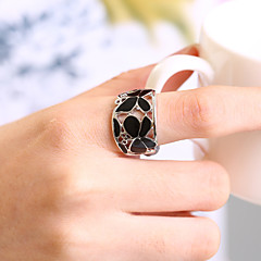 Silver Plated Ring Band Rings Party/Daily/Casual 1pc