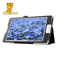 """caso tímido soporte de la cubierta de piel de oso ™ para la lengüeta lenovo 2 a8 a8-50 10.1 """"tablet"""