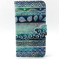 For Samsung Galaxy etui Kortholder Med stativ Flip Mønster Magnetisk Etui Heldækkende Etui Linjeret / bølget Kunstlæder for Samsung A5 A3