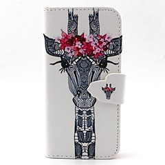 Deer Head Pattern PU Leather Case with Card Slot and Stand for Samsung Galaxy S4 mini/S3mini/S5mini/S3/S4/S5/S6/S6edge