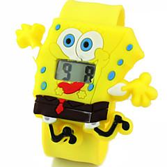 아이들의 귀여운 만화 실리콘 울트라 맨 스폰지 밥 패턴 아름다운 디지털 달력 방수 때리고 시계