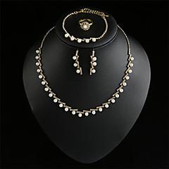 Collar/Pendiente/Brazalete/Anillo ( Aleación/Diamante Sintético/Perla de Imitación )- Vintage/Bonito/Fiesta/Trabajo/Casual para Mujer
