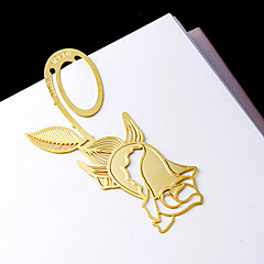 Rose Design Golden Metal Bookmark