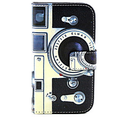 Camera Pattern PU Leather Material Card Full Body Case for Samsung Galaxy J1 / Galaxy Grand 2 G7106