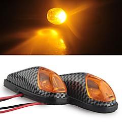 Carbon Motorcycle Yellow High Power LED Turn Signal Indicator Light DC 12V (2 Pcs)