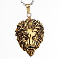 Fashion Lion Shape Titanium Steel Pendant For Men(Black,White,Gold)(1Pc)