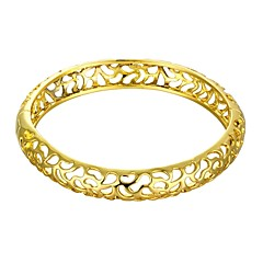 Vintage Delicate  Irregular Style 5.6*5cm Women's Multicolor Gold-Plated Brass Bangles(Golden&Rose Gold)(1 Pc)