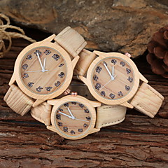 familiy set ouder-kind ongedwongen horloge kaki hout ontwerp pu band polshorloge